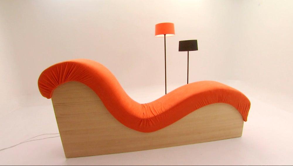 Construcción de un elegante y cómodo diván