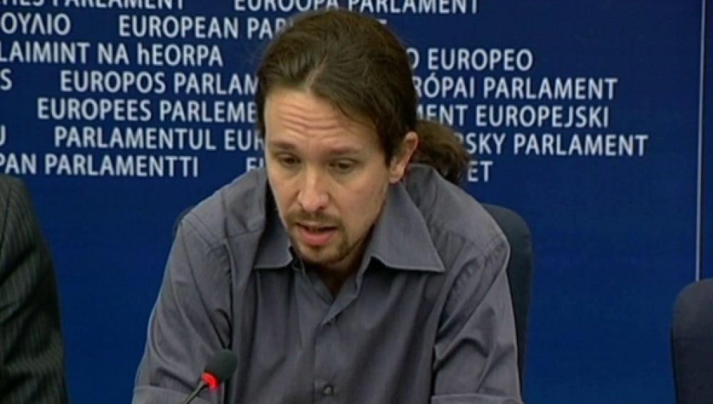 Pablo Iglesias, en el Parlamento Europeo