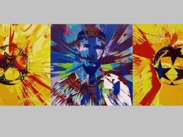 El lienzo 'Beautiful Messi Spin Painting for One in Eleven'