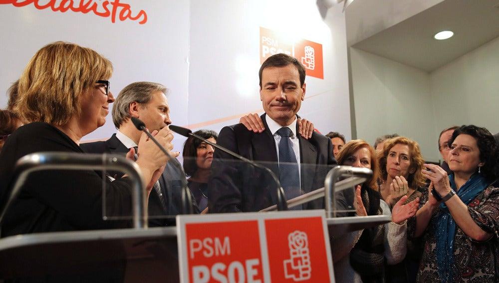 Tomás Gómez, arropado por la federación madrileña del PSOE