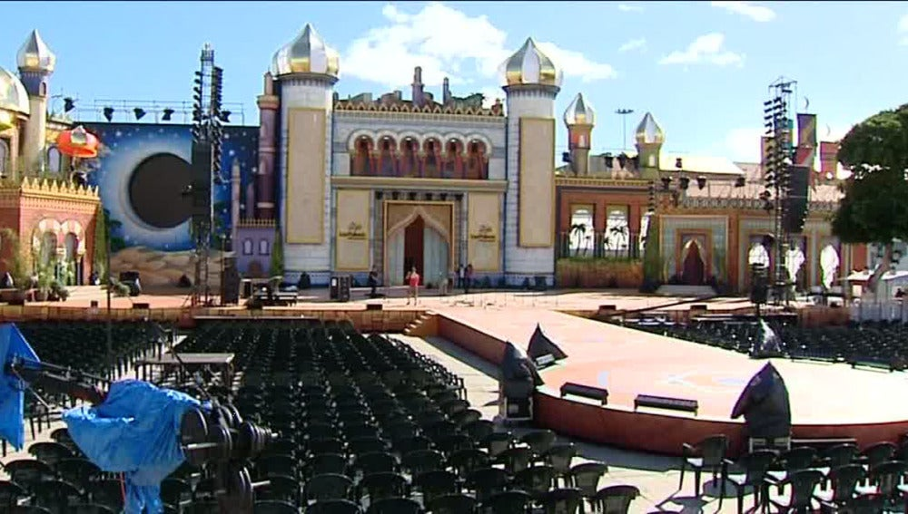 Escenario de la Gala de elección de la Reina del Carnaval de Las Palmas