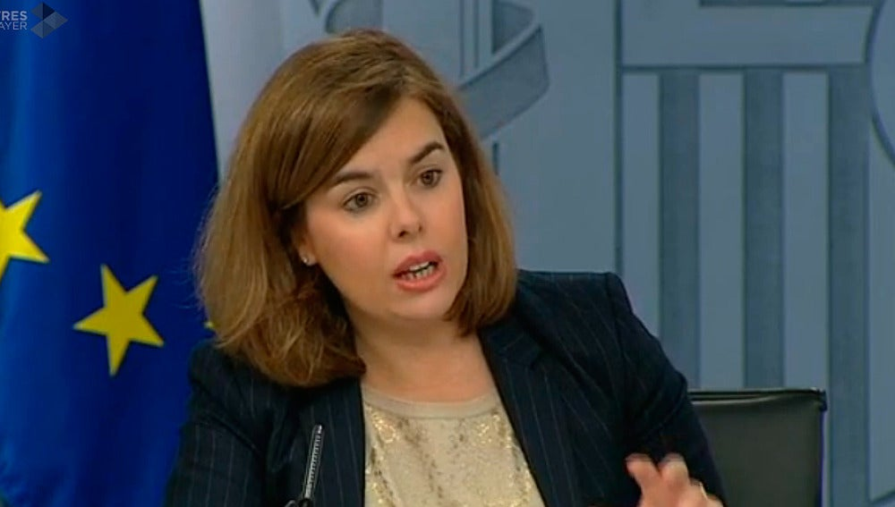 Soraya Sáenz de Santamaría, en rueda de prensa