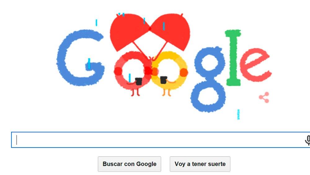 Doodle de Google por San Valentín