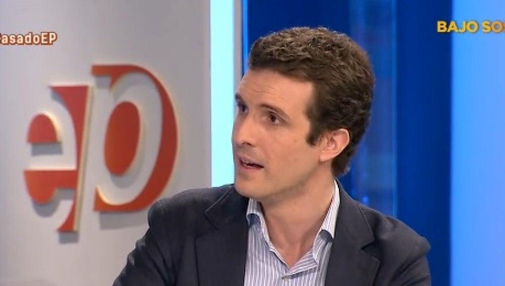 Pablo Casado, portavoz de campaña del PP