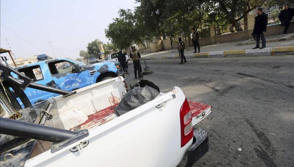 Policías iraquíes refuerzan la seguridad