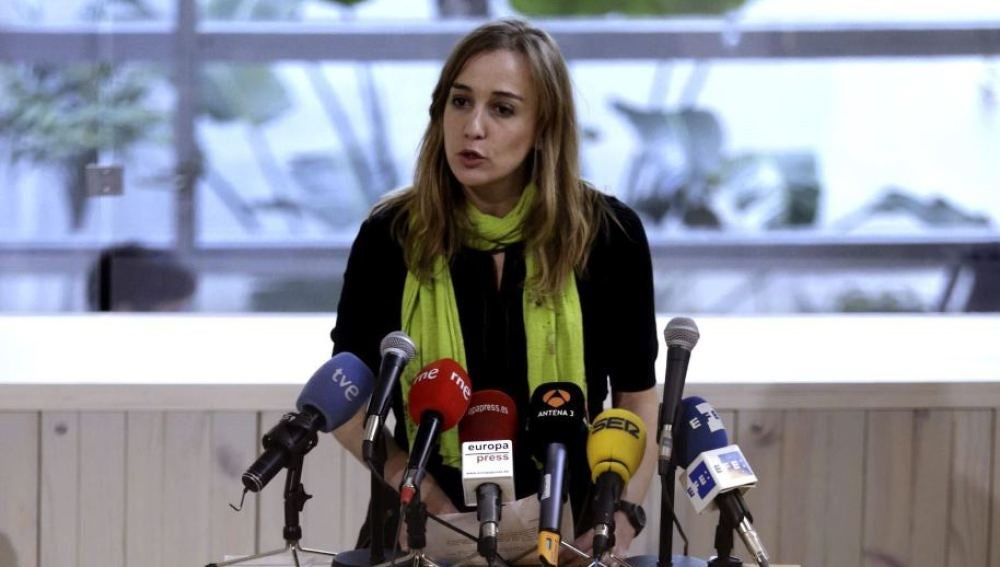 Tania Sánchez, en la presentación de su candidatura