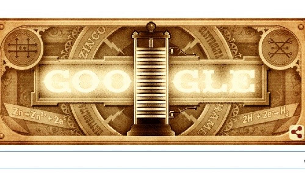 Google se ilumina con la pila de Volta