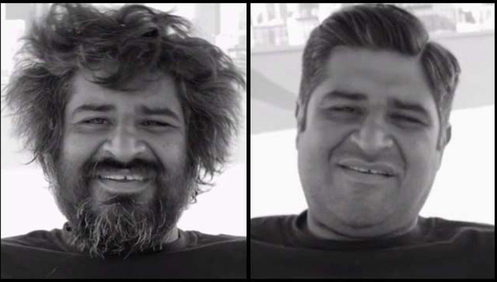El antes y después de un mendigo