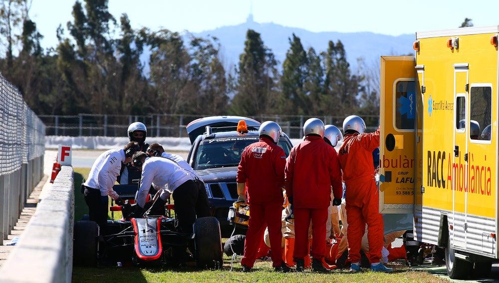 Accidente de Fernando Alonso en Montmeló