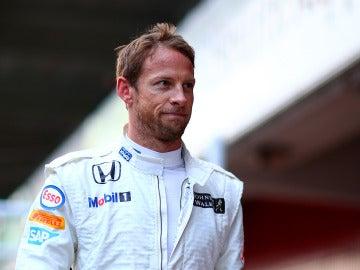 Jenson Button, con cara de circunstancias