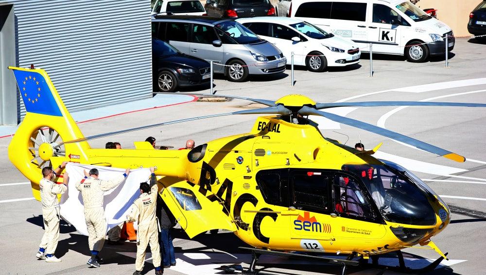 Fernando Alonso, trasladado en helicóptero