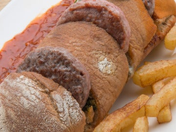 Mini hamburguesas con salsa barbacoa