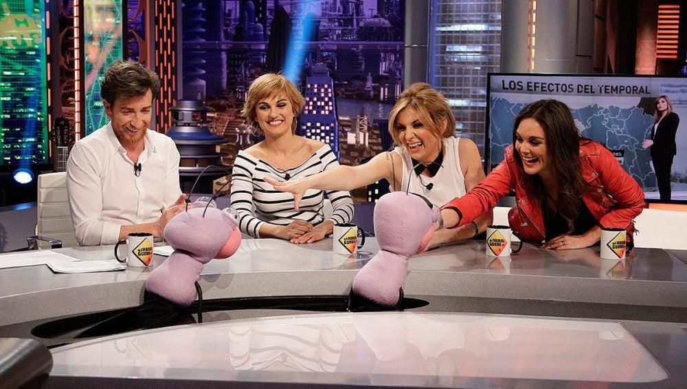 Lourdes Maldonado, Sandra Golpe y Mónica Carrillo con Trancas y Barrancas