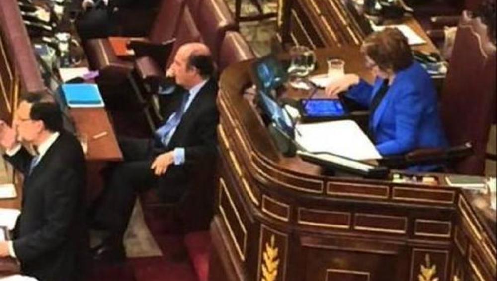 Celia Villalobos durante el Debate sobre el Estado de la Nación