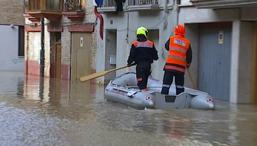 Inundación en Tudela