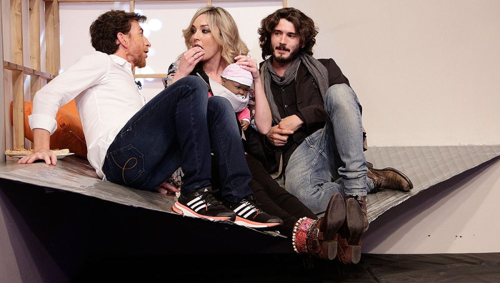 Anna Simon, Pablo Motos y Yon González en El Hormiguero 3.0