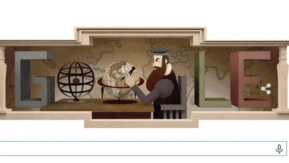 Gerardus Mercator, nuevo 'doodle' de Google
