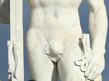 Detalle de una escultura romana