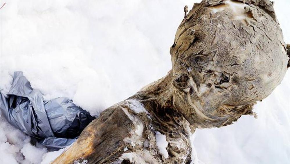 Cuerpo momificado en México