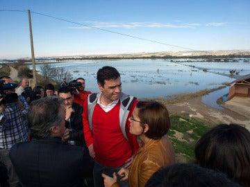 Pedro Sánchez visita  Ribaforada, en Navarra