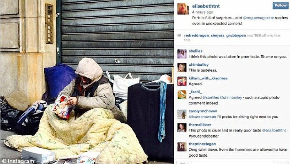Imagen de la polémica colgada en Instagram