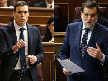 Pedro Sánchez y Mariano Rajoy, en el Congreso