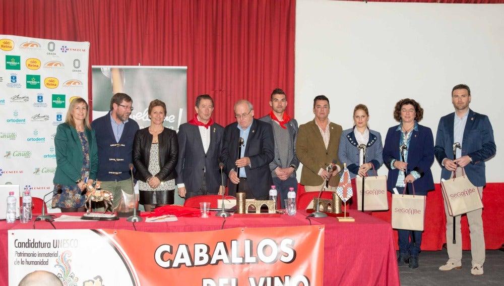 Representantes de los ayuntamientos de Caravaca y Segorbe.