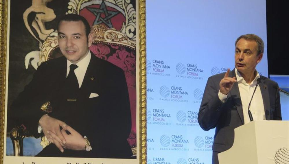 El expresidente del Gobierno español José Luis Rodríguez Zapatero, durante su intervención