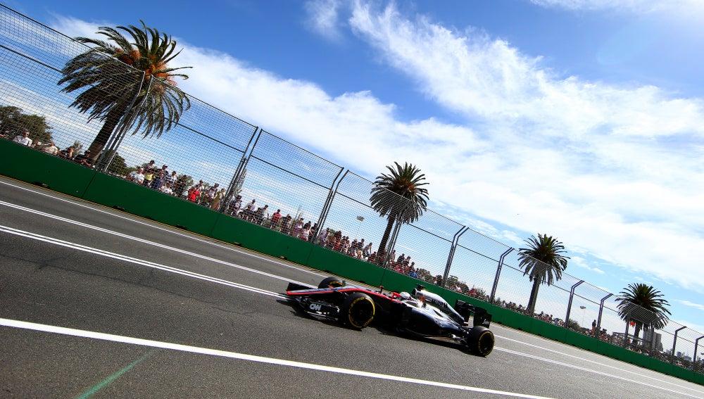 El McLaren de Magnussen en Australia