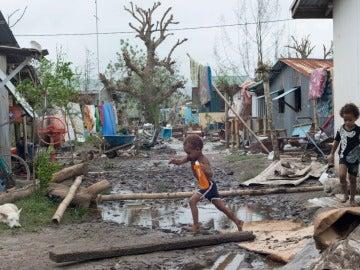 Desolación en Vanuatu tras el paso del ciclón Pam