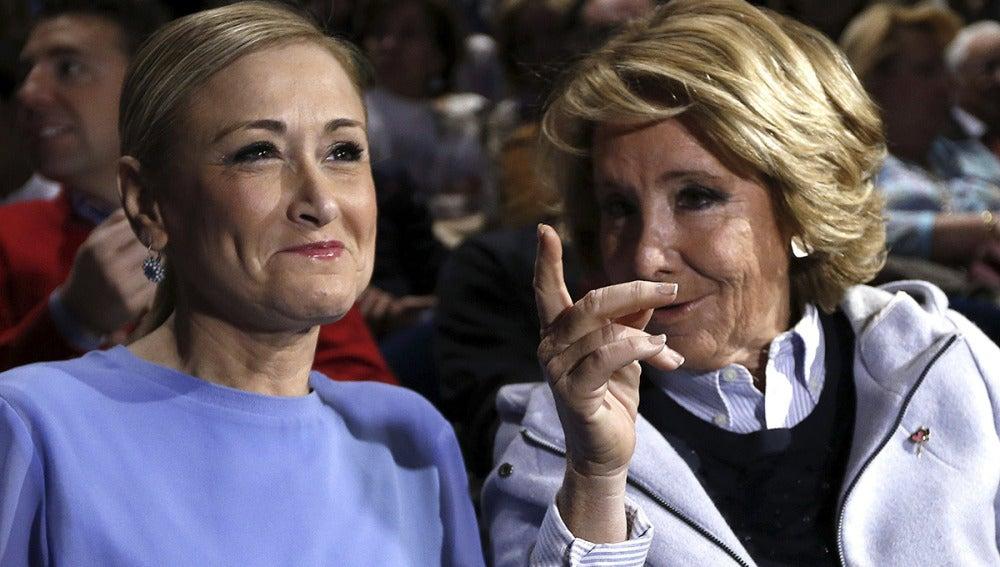 Las candidatas del PP en Madrid en su primer acto de precampaña juntas