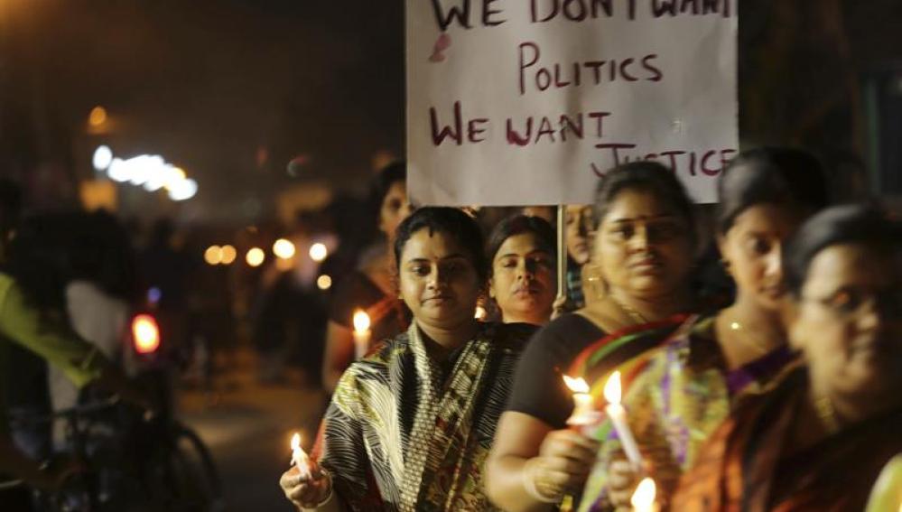Manifestación por la violación de una monja de 71 años en la India