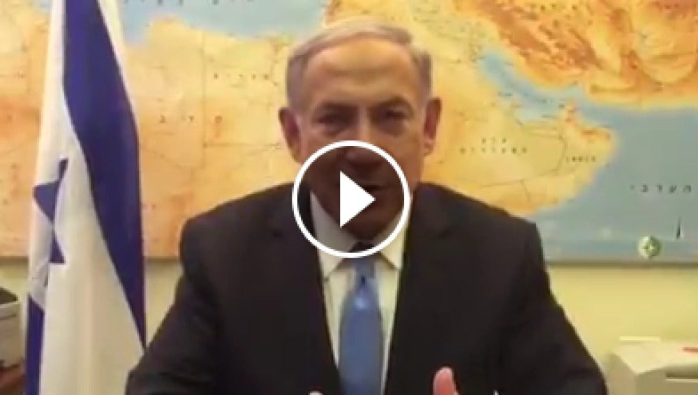 Netanyahu en un polémico vídeo en Facebook