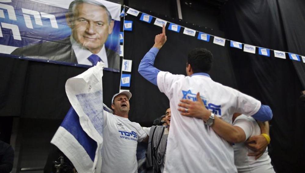 Simpatizantes de Netanyahu