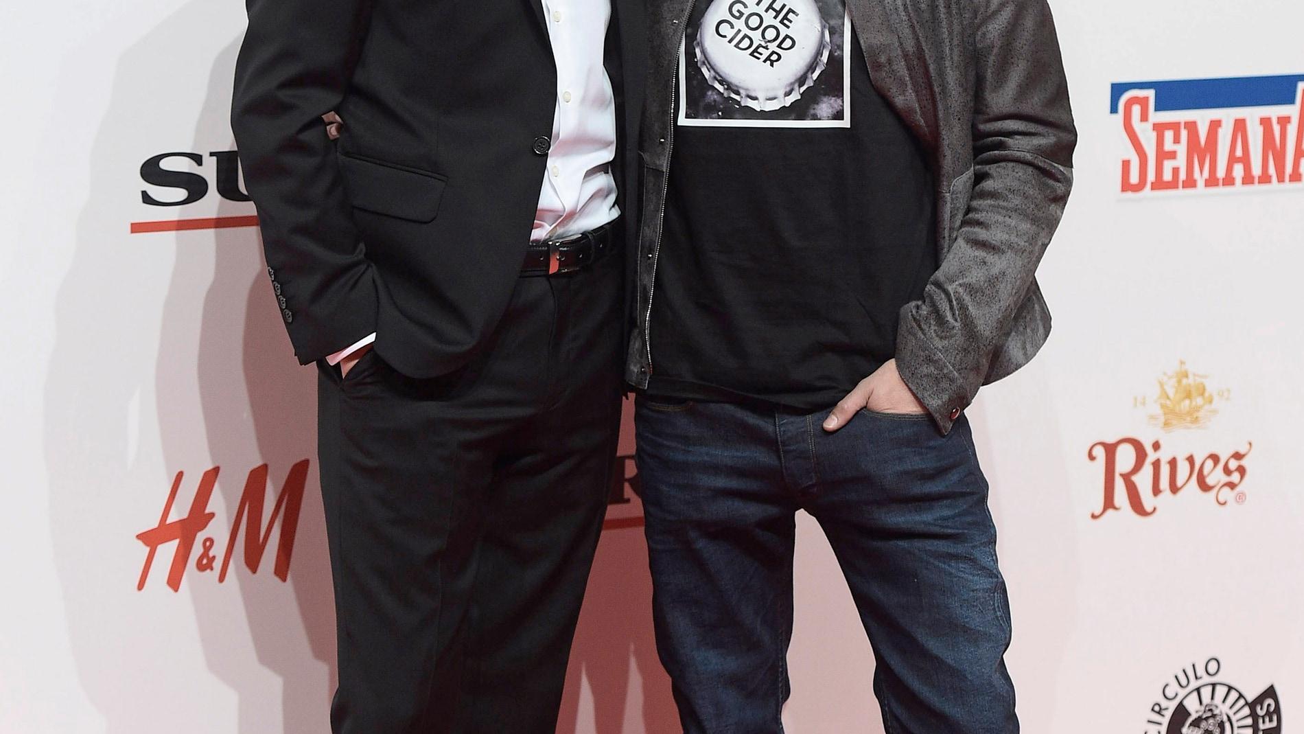 Aitor Luna y Yon González, dos hermanos posando en el photocall