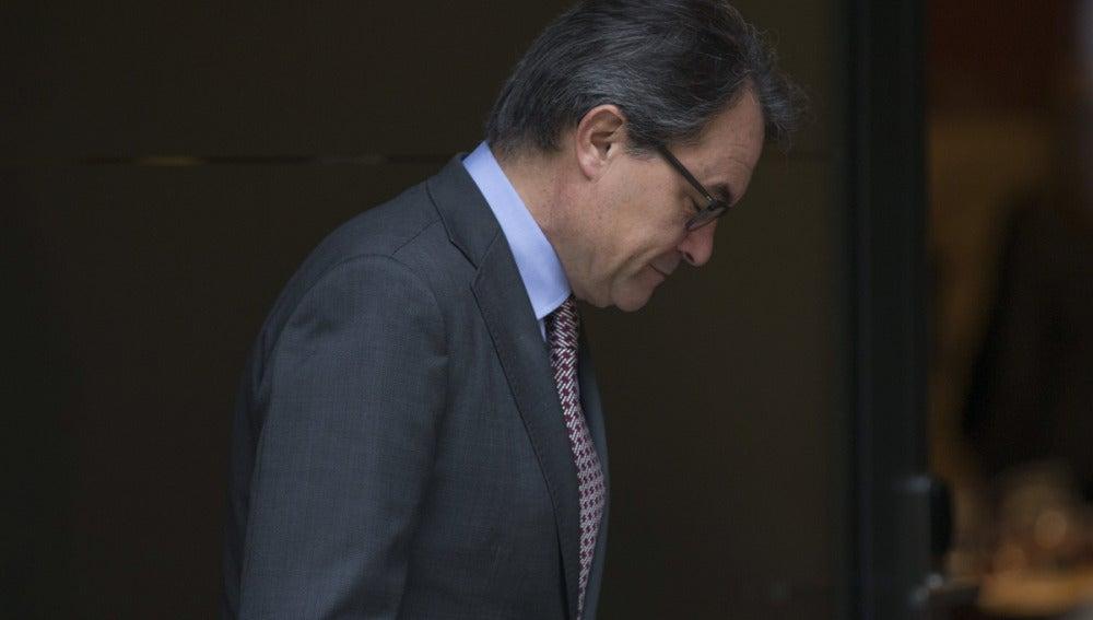 Artur Mas tras la rueda de prensa
