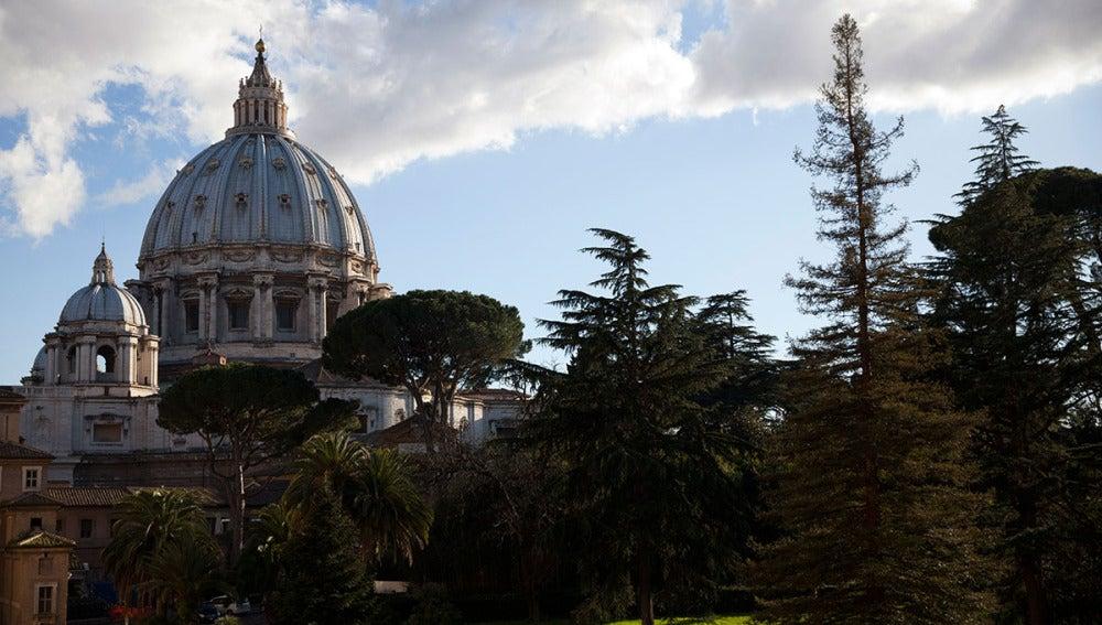 Vista de los Museos Vaticanos en Roma
