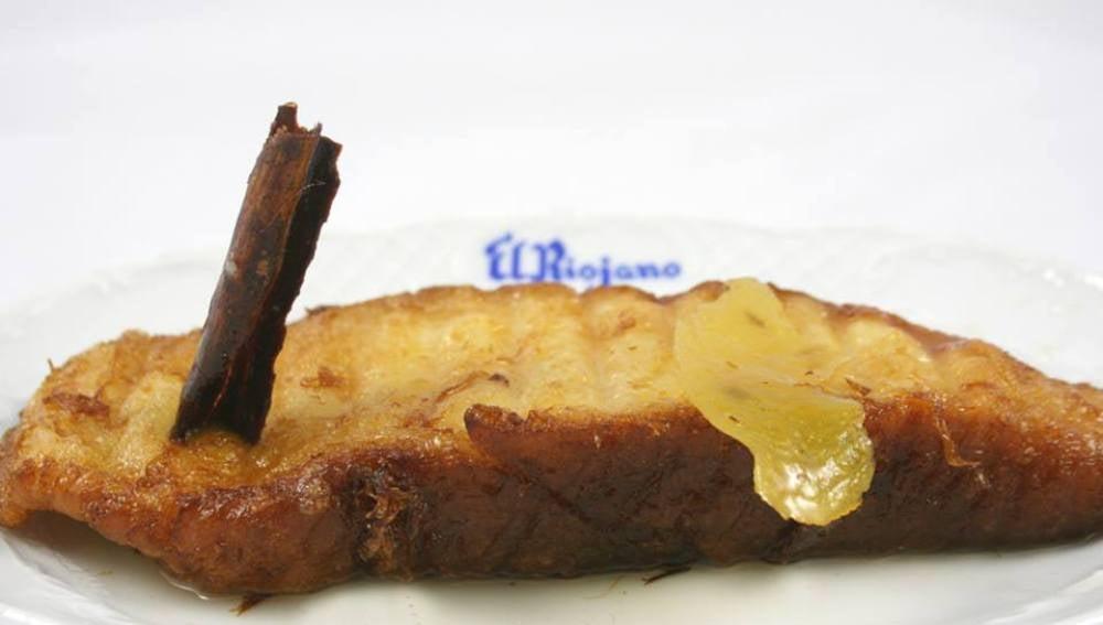 La torrija de la pastelería El Riojano.