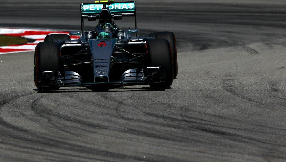 Rosberg, de frente