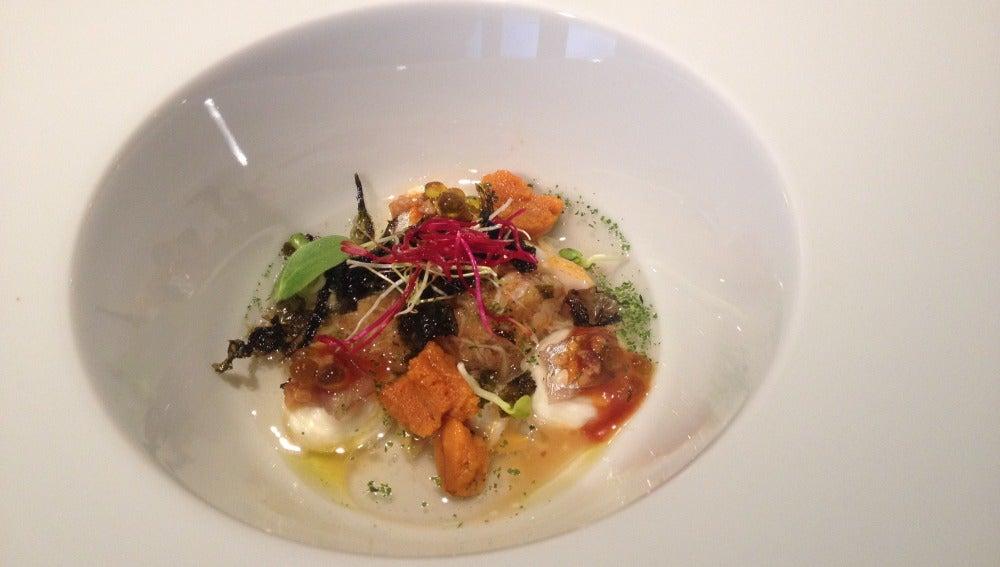 Sensaciones marinas y vegetales: qué platazo, oh my god.
