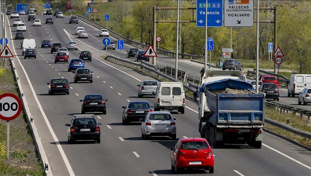Tráfico en las carreteras españolas.