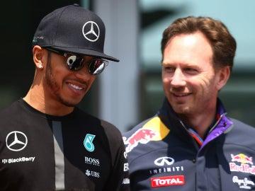 Hamilton, con Horner