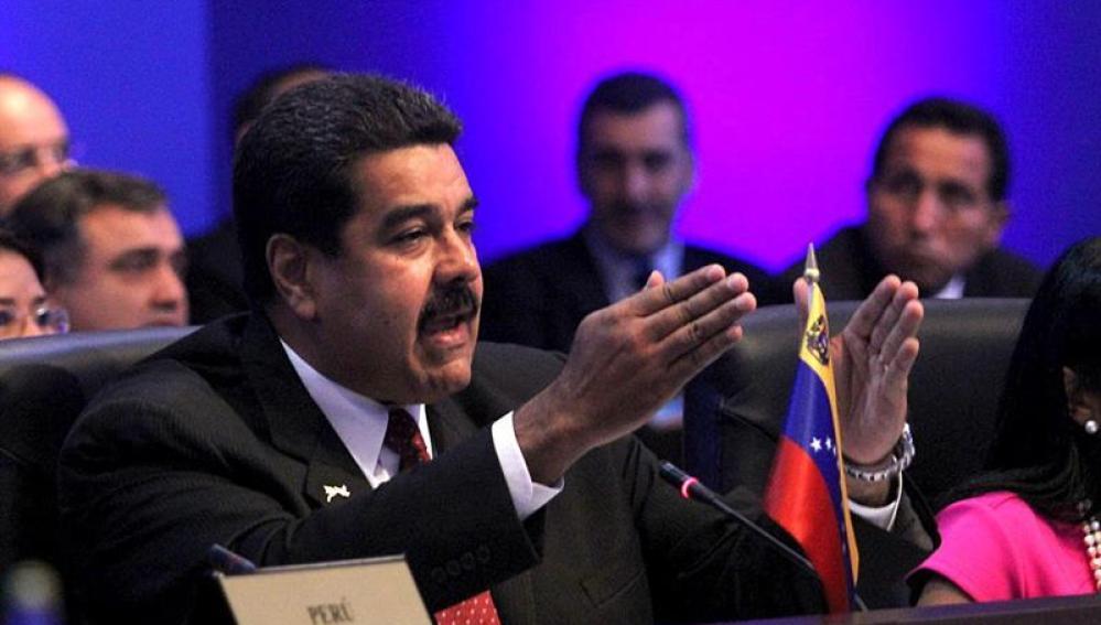 El presidente de Venezuela, Nicolás Maduro, en la Cumbre de Panamá