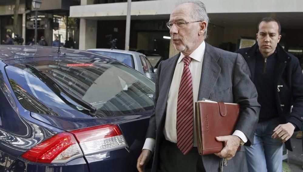 Rodrigo Rato regresa a su domicilio de MadridRodrigo Rato regresa a su domicilio de Madrid