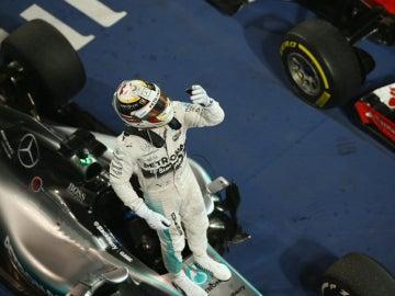 Lewis Hamilton, sobre su coche