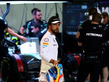 Fernando Alonso en Sakhir
