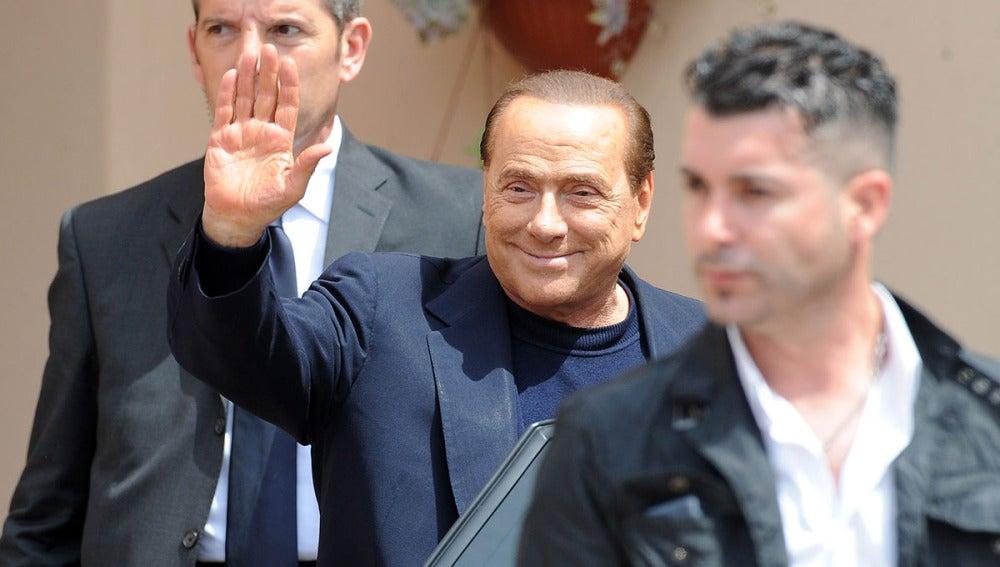 Silvio Berlusconi, en Milán