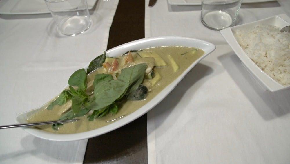 El curry verde de Oam Thong