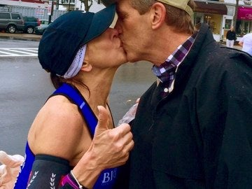 Beso Maratón de Boston