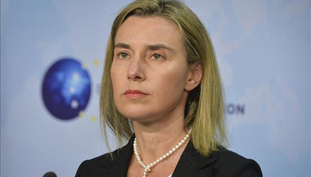 La representante de Política Exterior de la Unión Europea, Federica Mogherini